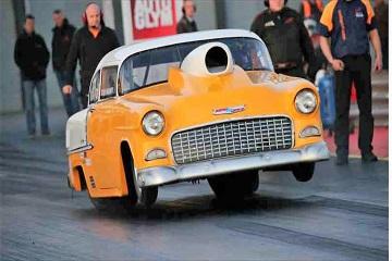 1955 Chevy doorslammer Bel Air Chevrolet Drag Racing...